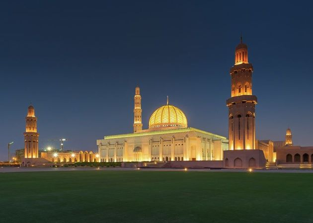 place to visit in muscat at night Sultan Qaboos Grand Mosque