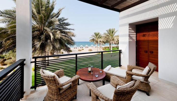 The Chedi Muscat beach view